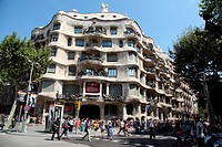 Casa Mila, La Pedrera, Barcelona, Catalonia, Spain, Europe.