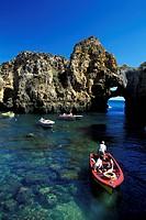 Rocky coast, Ponta da Piedade, Lagos, Algarve, Portugal