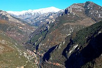 The village of Fontan, Roya valley, Mercantour national park, Alpes-Maritimes, Provence-Alpes-C&#244;te d'Azur, France, Europe