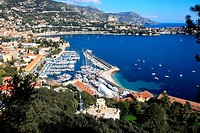 The coastal village of Villefranche sur mer, La Darse harbor, French Riviera, Alpes-Maritimes, Provence-Alpes-C&#244;te d'Azur, France, Europe