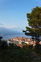 View to Old Town of Korcula, Korcula, Dubrovnik_Neretva county, Dalmatia, Croatia