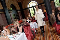 Saturday afternoon Fashion Tea at The Merchant hotel located in the former Ulster Bank building, Belfast, Northern Ireland