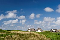 Thatched_roof houses, Kampen, Sylt, Schleswig_Holstein, Germany