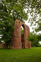 Ruins of Eldena monastery, near Greifswald, Baltic Sea, Mecklenburg_West Pomerania, Germany