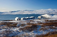 Hardangervidda National Park in Winter, snow covered landscape, Hordaland, Norway