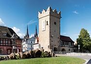 Darr Gate, Johannes Church, Saalfeld, Thuringia, Germany