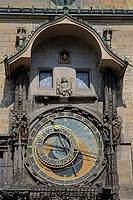 Astronomical Clock, tower of Old Town Hall, Old Town Square, old town, Prague, Bohemia, Czech Republic