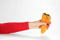 Hand Holding Beef Taco
