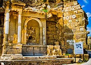 Side  Ancient city ruins  Province of Antalya  Mediterranean coast  Turkey