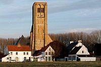 Medieval town of Damme, Onze_Lieve_Vrouwkerk, Church of Our Lady, West Flanders, Belgium, Europe