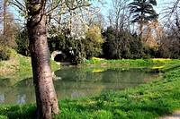 parco del castello di racconigi, piemonte, italia