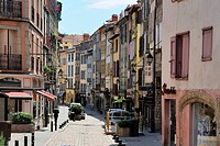 Main shopping street, Le Puy en Velay, Haute_Loire, Massif Central, France, Europe
