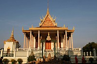 Wat Preah Keo Morakot Silver Pagoda Temple of the Emerald Buddha, Phnom Penh, Cambodia, Indochina, Southeast Asia, Asia
