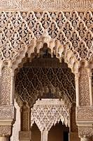 Palacio de los Leones, Nasrid Palaces, Alhambra, UNESCO World Heritage Site, Granada, Andalucia, Spain, Europe