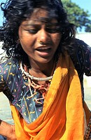 Tribal woman in trance in India  She belongs to the Bhil tribe