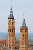 Moorish towers, Calatayud, Zaragoza province, Aragón, Spain
