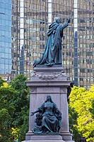 Charity Statue And The Laurentian Building, Montreal Quebec Canada