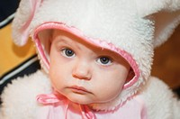 Portrait Of A Baby In A Bunny Costume, Moraga California United States Of America