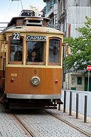 Old wooden tram, Porto, Portugal