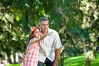 father and daughter spending quality time together in a park, edmonton alberta canada