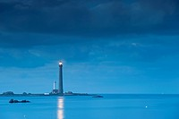 France, Finistere, Ile Vierge in Archipel de Lilia, the Ile Vierge Lighthouse, the tallest lighthouse in Europe with a height of 82.5 meters