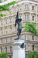 Maisonneuve Monument At Place_D´armes In Old Montreal, Montreal Quebec Canada