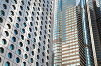 Jardine House and Exchange Square Building Hong Kong