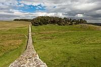 hadrian´s wall, northumberland, england