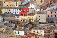 houses in old section of cuenca, cuenca cuenca province castilla_la mancha spain