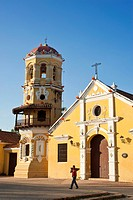 Colombia, Bolivar Department, Mompox or Mompos, city founded in 1540 and listed as World Heritage by UNESCO, Santa Barbara Church of late 16th century