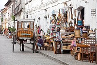 Philippines, Luzon island, Ilocos Sur, Vigan, listed as World Heritage by UNESCO, Mestizo historic district, colonial and pedestrian Crisologo street