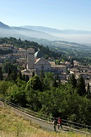 Italy, Umbria, Assisi, San Rufino Cathedral listed as World Heritage by UNESCO
