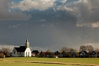 Netherlands, North Holland, Texel, typical village