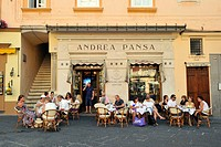 Italy, Campania, Amalfi Coast, listed as World Heritage by UNESCO, Amalfi, piazza Duomo, Pasticceria Andrea Pansa dating of 1830