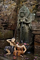 Indonesia, Java, East Java Province, Candi Belahan Temple, fountain of youth