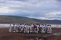 Kenya, Great Rift Valley, Lake Nakuru National Park, school children visiting the National Park