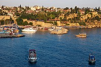 Turkey, Mediterranean region, Turquoise Coast, Pamphylia, Antalya, old town harbour Kaleici