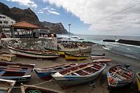 Cape Verde, Santo Antao island, Ponta do Sal, fishing port