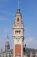 France, Nord, Lille, belfry of the Chamber of Commerce and Industry of Lille CCI
