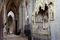France, Haute Vienne, Limoges, cathedral of Saint Etienne, Raynaud de la Porte tomb