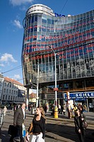 Czech Republic, Prague, historical centre listed as World Heritage by UNESCO, Nove Mesto, Zlaty Andel shopping mall by architect Jean Nouvel