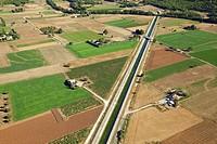 France, Var, Signes, Canal de Provence aerial view