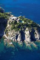 France, Var, Bormes les Mimosas, Cap Benat, private house aerial view