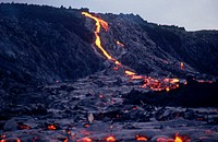 Lava flow from Kilauea volcano, Hawaii.