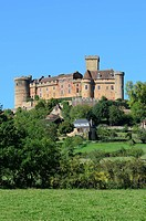 France, Lot, Haut Quercy, Dordogne valley, Castelnau Bretenoux castle