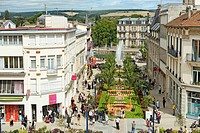 France, Meuse, Verdun, downtown turned into a garden at the foot of the Monument of Victory for the annual event called Verdun Side Gardens