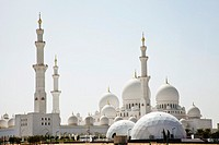 Sheikh Zayed Bin Sultan Al Nahyan Mosque, Great Mosque, Abu Dhabi, United Arab Emirates, Middle East.