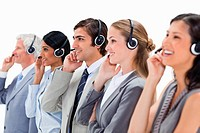 Professionals listening happily
