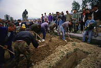 Soldiers and civilians killed in the Bosnian War are buried in Sarajevo.