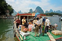 Ships, Xingping, Li River, Guangxi, China.